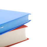 Red and blue book composition isolated Royalty Free Stock Images