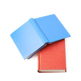 Red and blue book composition isolated Stock Photo