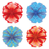 Red and blue bow. Vector illustration Stock Photos