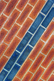 Red and Blue Brick Abstract Royalty Free Stock Photo