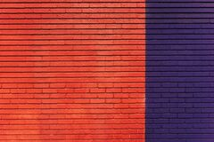 Red blue brick wall