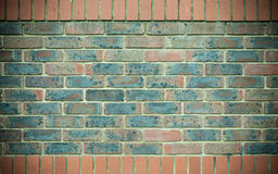 Red blue brick wall as texture or background. . Royalty Free Stock Photos