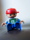 Red Blue and Brown Minifig Royalty Free Stock Photography