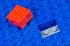 Red and blue building blocks Royalty Free Stock Images
