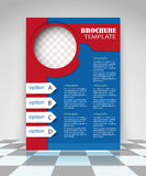 Red and blue business flyer design Royalty Free Stock Photos
