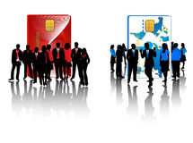 Red and blue business teams Stock Photography