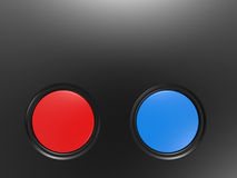 The red and blue button Stock Photos