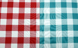 RED AND BLUE CHECKED FABRIC Royalty Free Stock Photo