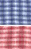 Red blue checkered. Two kinds of checkered fabric, red and blue Stock Photography