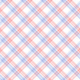 Red and blue checkered colorful seamless pattern, vector Stock Images