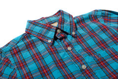 Red and blue checkered shirt. Red and blue checkered long sleeved shirt Royalty Free Stock Photography