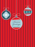 Red and blue christmas Stock Photography