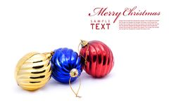 Red and blue christmas blubs Royalty Free Stock Photos