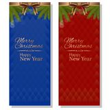 Red and blue christmassy backgrounds Stock Photo