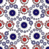 Red and blue circles abstract seamless pattern background Royalty Free Stock Images