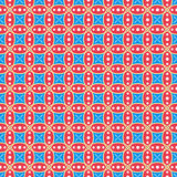 Red and blue circles pattern. Royalty Free Stock Photo