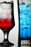 Red and blue cocktails Stock Photography