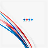 Red and blue color swirl concept Stock Photography