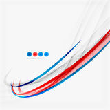 Red and blue color swirl concept Stock Image