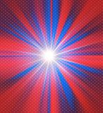 Red and blue colors glowing background. Red and blue American flag colors glowing zooming background with stars pattern Royalty Free Stock Photos