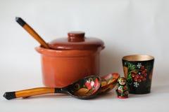Wooden dolls russian souvenirs matryoshka stock photos