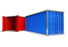 Red and blue Container Royalty Free Stock Image