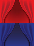 Red and blue curtains   Royalty Free Stock Photography