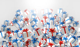 Red and blue 3d Gift box Stock Images