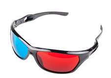 Red and Blue 3D glasses Stock Photos