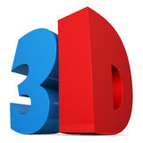 Red and blue 3D sign Royalty Free Stock Photos