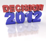 Red and Blue Decision 2012 3D logo Royalty Free Stock Photos