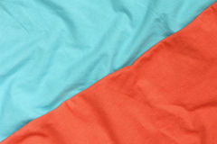 Red and blue detailed fabric texture royalty free stock photography