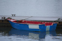 Red and Blue Dingy. Stock Photography