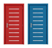 Red and blue doors Royalty Free Stock Photo