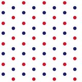 Red and blue dots on white background marine theme seamless patt. Ern vector Stock Photography