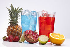 Red and Blue drink Royalty Free Stock Photography