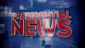 Dynamic Presidential News Title Page. A red and blue dynamic 3D Presidential News title page animation stock footage