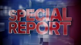 Dynamic Special Report News Title Page Background Plate