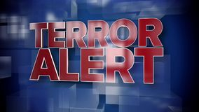 Dynamic Terror Alert Title Page Background Plate. 9339 A red and blue dynamic 3D Terror Alert title page background animation royalty free illustration