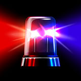 Red and blue emergency flashing siren. Vector Royalty Free Stock Image