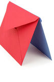 Red and blue envelopes Royalty Free Stock Images