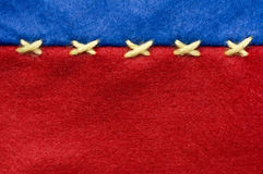 Red and blue felt cloth. Red and blue felt with binding background royalty free stock photography