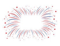 Red and blue firework Stock Images