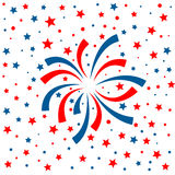 Red and blue fireworks on white background Royalty Free Stock Photography