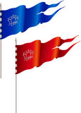 Red and blue flags Royalty Free Stock Images