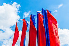 Red and blue flags Royalty Free Stock Photography