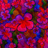 Red and blue floral background Royalty Free Stock Photos