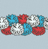 Red and blue flowers stripe. Background for gifts, arts, papers Royalty Free Stock Photos