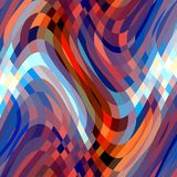 Red Blue Fluid Lines, Abstract Forms, Lights, Sparkling Petals, Fractal, Abstract Background Royalty Free Stock Images