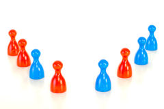 Red and blue game pieces Stock Image